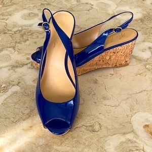 Marc Fisher Peep Toe Platform Slingback Wedges